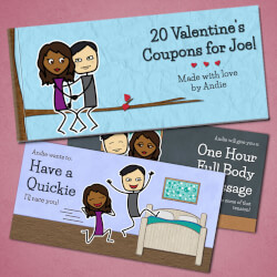 Personalized Romantic Coupon Book..