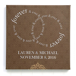 Personalized Wedding Canvas Print..