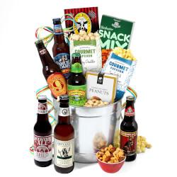 Microbrew Beer Bucket Gift Basket