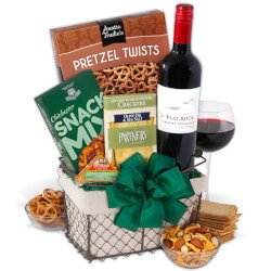 Red Wine Countryside Gift Basket
