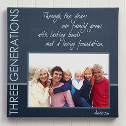 Personalized Family Photo Canvas..