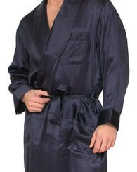 Mens Classic Silk Robe