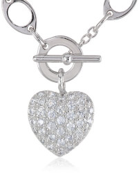 Cubic Zirconia Pave Heart Pendant