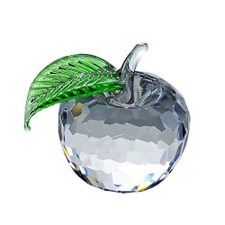 Crystal Apple Figurine