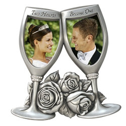 Champagne Glasses Wedding Frame