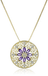 Filigree Medallion Pendant Necklace