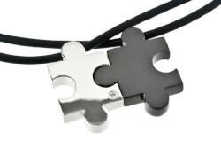 Love Puzzle Couples Pendant