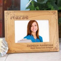 Personalized Nurse Wood Frame