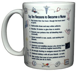 Top 10 Nurse Reasons Mug