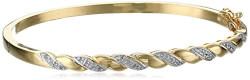 Gold Over Silver Bangle Bracelet