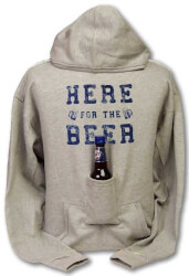 Hoodie Sweatshirt With Beer Pouch