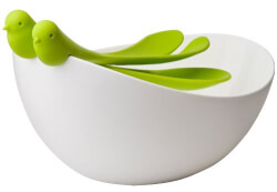 Sparrow Salad Bowl And Spoons