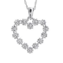 Beautiful Diamond Heart Pendant