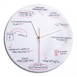 Science Quiz Wall Clock