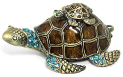 Sea Turtle Jewelry Trinket Box