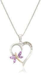 Diamond-Accent Butterfly Heart..