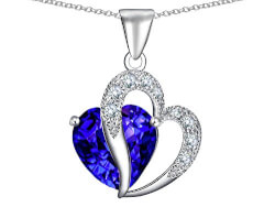 Star K Heart Shape Stone Pendant..