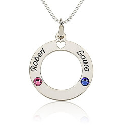 Circle Of Love Personalized Necklace
