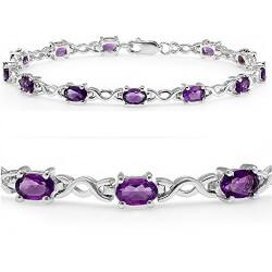 Amethyst Infinity Tennis Bracelet