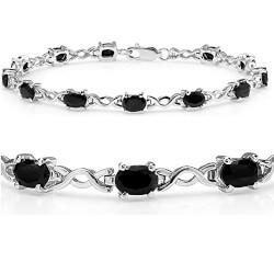 Sapphire Infinity Tennis Bracelet