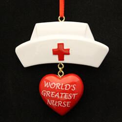 Personalized Greatest Nurse Ornament