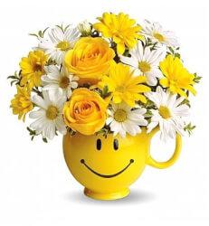 Fresh Cut Flowers - Be Happy Bouquet