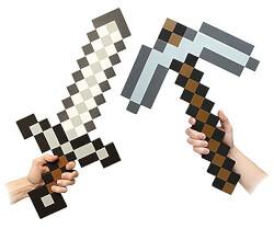 Minecraft Foam Sword & Pickaxe