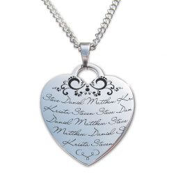 Mothers Heart Personalized Necklace