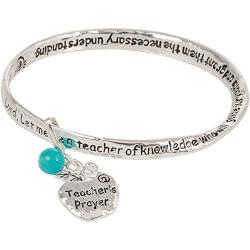 Teacher Prayer Bangle Bracelet