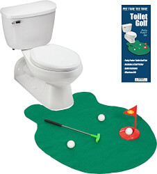 Toilet Putting Practice Green