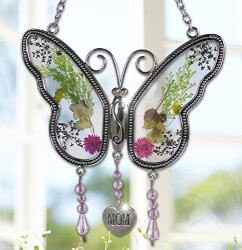 Suncatcher With Real Flowers For Mom