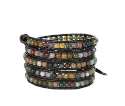 Beautiful Gemstones Leather Wrap..