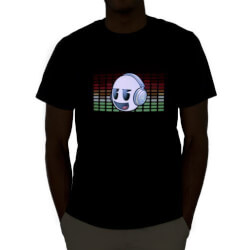 LED Flashing Equalizer Rave Shirt