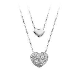 Two Hearts Pendant Necklace