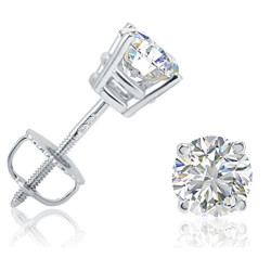 IGI Certified Diamond Stud Earrings