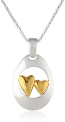 Sisters Double Heart Necklace