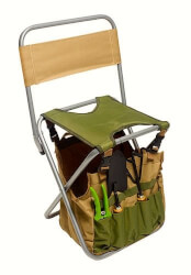 Garden Tool Kit With Folding Seat