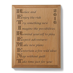 Enjoy Retirement Wooden Plaque