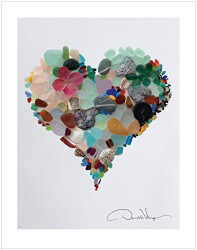 Love - Sea Glass Poster