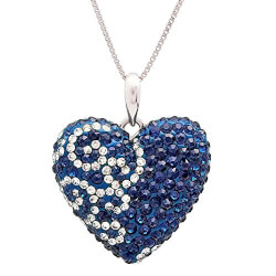 Blue And White Heart Pendant