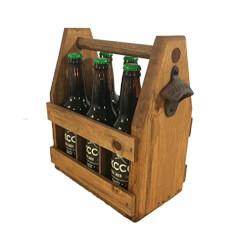 Handcrafted Wooden Beer Carrier