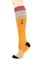 Womens Pencil Knee High Socks