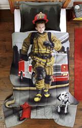 Firefighter Comforter Set