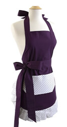 Flirty Aprons Original Paris Plum..
