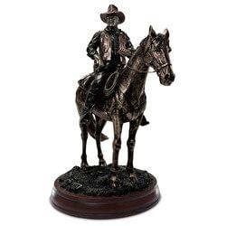 John Wayne On Horseback Cold-Cast..