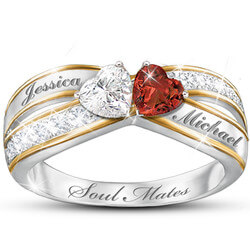 Two Hearts Become Soul Mates Topaz..