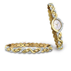 Engraved Watch And Bracelet With..