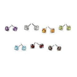 A Week Of Genuine Gemstones Stud..