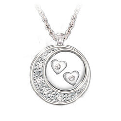 Floating Diamond Hearts Sterling..