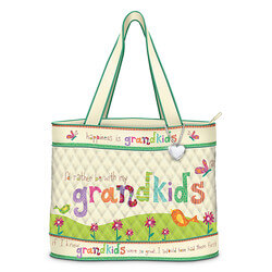 Grandkids Rule Artistic Tote Bag..